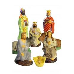 Set de 8 pièces nativité avec Vierge brune