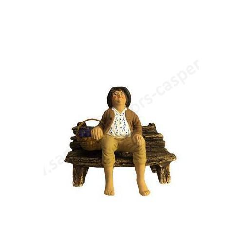 Maraîcher assis sur le banc