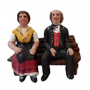 Couple Alsacien sur banc 1